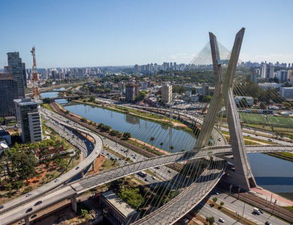 Sao Paulo Tour Suspension bridge - Brooklyn