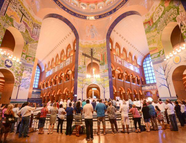 Tour to Aparecida Inside Basilica